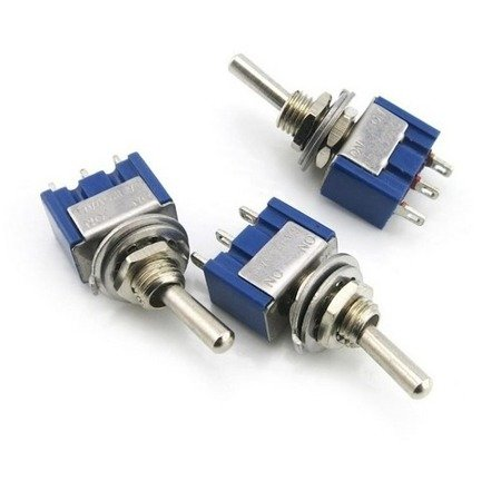 Przełącznik dźwigniowy 6A/125V 3A/250V - 2-pozycyjny - MTS-102/103 - 3PIN