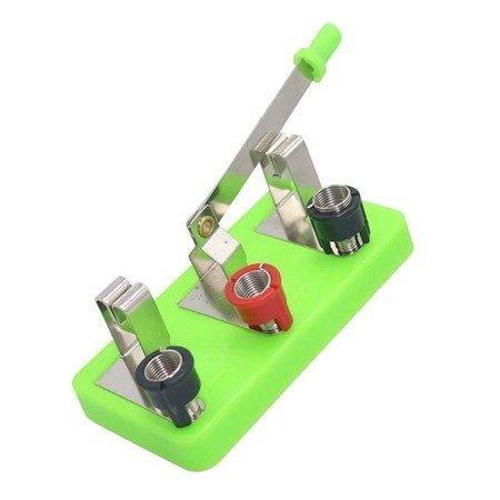 Przełącznik hebelkowy dwu-pozycyjny na podstawce - do doświadczeń i budowy obwodów elektrycznych