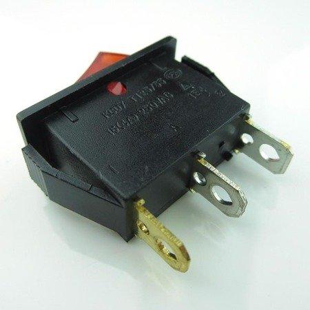 Przełącznik klawiszowy KCD3-101N - ON/OFF - 16A - 220V - 3 PIN