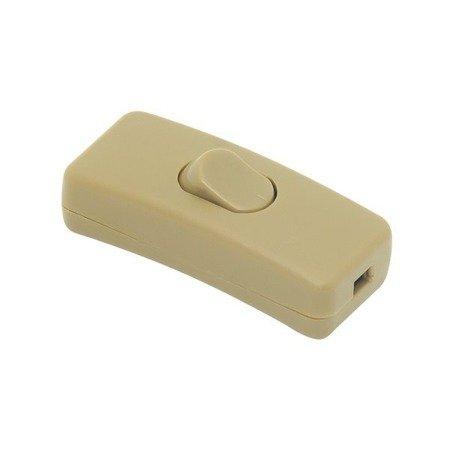 Przełącznik na kabel - złoty - przelotowy - ON/OFF - wyłącznik lampowy