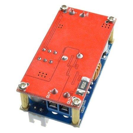 Przetwornica 5A - 1,3V-30V - Step-Down, XL4015E - z miernikiem prądu i napięcia (woltomierz i amperomierz)