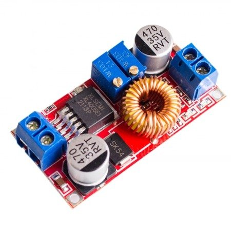 Przetwornica DC-DC Step-Down, XL4015E1 0-5A do 0,8-30V regulacja prądu i napięcia - ładowarka akumulatorów