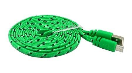 Przewód USB 300cm - nylon, pleciony okrągły - USB - Micro USB - do telefonu, aparatu, nawigacji itd.