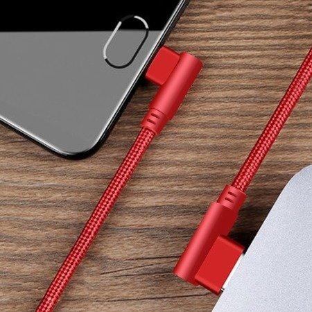 Przewód USB - micro USB - kątowy - RED 100cm