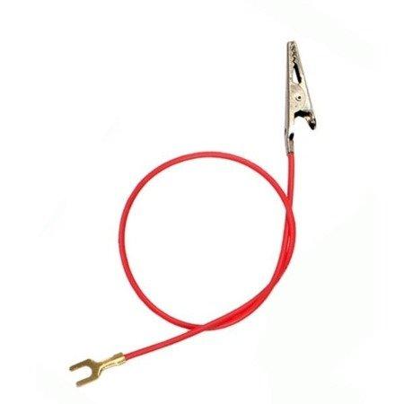 Przewód połączeniowy 20cm - konektor widełkowy-krokodylek - do budowy prostych obwodów elektrycznych