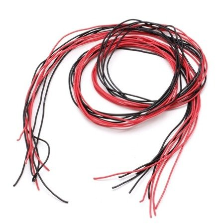 Przewód silikonowy miedziany ocynowany 26AWG - 28 żył - 0,14 mm2 - czarny - elastyczny