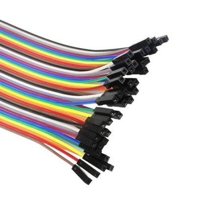 Przewody kable zworki 40 szt 20cm - żeńsko-żeńskie