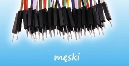Przewody kable zworki DuPont M-M 40 szt 30cm - męsko-męskie