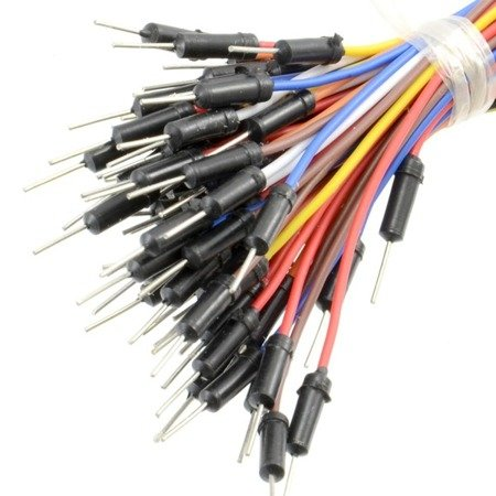 Przewody zworki połączeniowe DuPont M-M zestaw 65szt - męsko-męskie