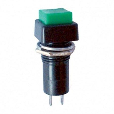Przycisk PBS-12A - 250V 1A - zielony - monostabilny - kwadratowy