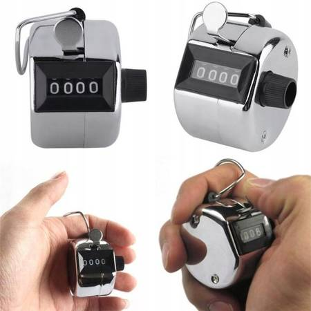 Ręczny licznik sztuk - Klikacz mechaniczny - Clicker - Pedometr