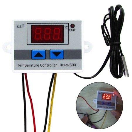 Regulator temperatury W3001 - od -50 do 110C - 12V - Termostat