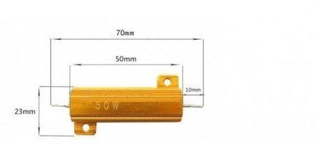 Rezystor 50W - 6 Ohm - w aluminiowej obudowie - RX24 50W 6R