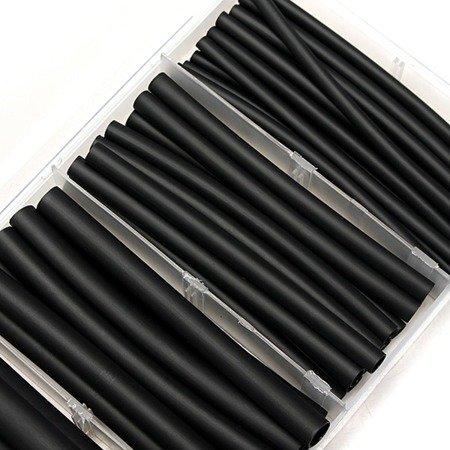Rurka Termokurczliwa - Zestaw 100 szt koszulek - czarne - 1,5 do 13mm