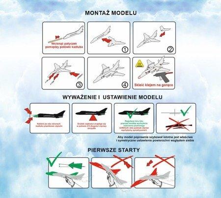 Samolot rzutek - Su 22 - 345 mm - model dla dzieci