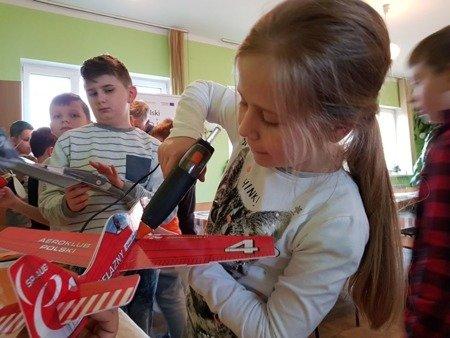 Samolot rzutek - Zlin Z 50 - 420 mm - model dla dzieci