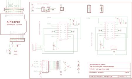 Shield sterownika L293D do 4x silników DC lub 2x krokowych
