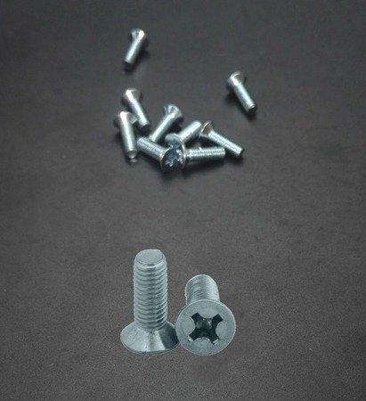 Śruba stożek M2,5x8  - do metalu - metryczna- 10 szt