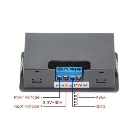 Sterownik cyfrowy XY-PWM - 3.3-30V - generator sygnału prostokątnego PWM - UART