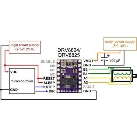 Sterownik silnika krokowego DRV8825 - 2,2A 45V - StepStick RAMPS