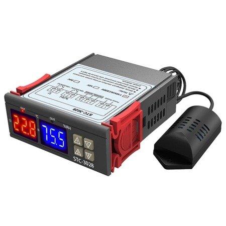 Termostat  STC-3028 - Regulator wilgotności i temperatury