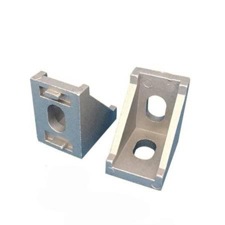 Uchwyt narożny 35x35mm do profili aluminiowych 3030 - TSLOT, T-NUT, TNUT - 2x śrubka i narkętka
