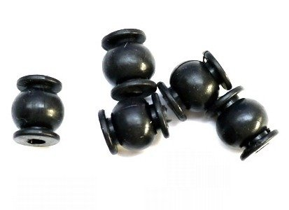 Wibroizolator 14mm/12mm - średnia twardość - czarny - tłumik drgań, damper, amortyzator - 1 szt