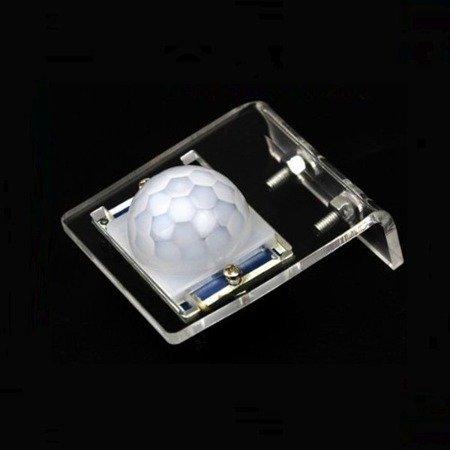 Wspornik akrylowy do czujnika ruchu PIR HC-SR501 - przeźroczysty uchwyt