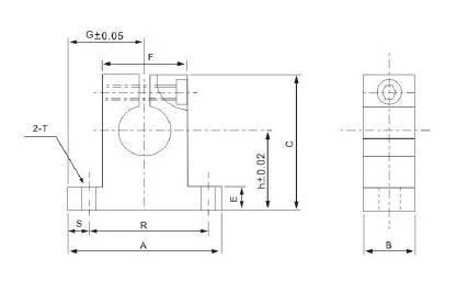 Wspornik końcowy wałka liniowego SK8 CNC - SH8A - SK-8