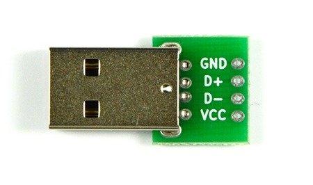 Wtyk USB A do płytki stykowej KIT - Wtyk USB typ A