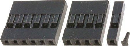 Wtyk kołkowy 2,54mm - 2 piny - 10 szt - osłonka - do układów elektronicznych