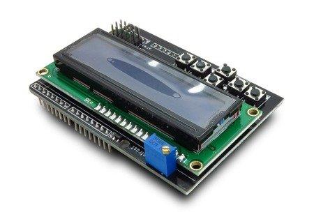Wyświetlacz Moduł shield LCD 2x16 - wyświetlacz i klawiatura