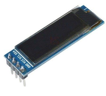 Wyświetlacz OLED niebieski 0,91' 4P 128x32 na I2C - SSD1306  - Arduino