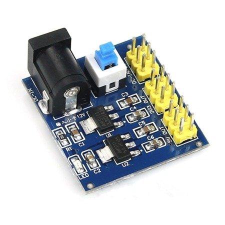 Zasilacz - przetwornica DC-DC do Arduino - 12V na 5V i 3,3V w jednym