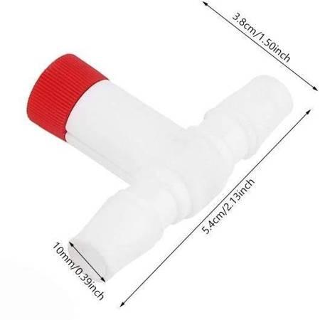 Zawór z regulacją przepływu powietrza - na wąż 10x10mm - Zaworek dwudrożny