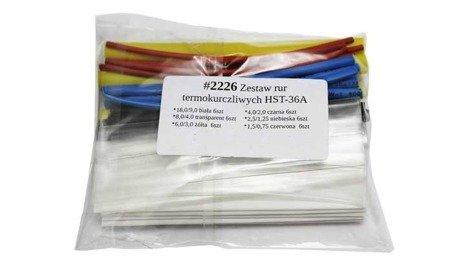 Zestaw 164 szt rurek termokurczliwych - kolor - 1 do 14 mm - rurka termokurczliwa