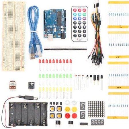 Zestaw startowy UNO basic KIT - Starter Kit UNO R3 - Zgodny z Arduino
