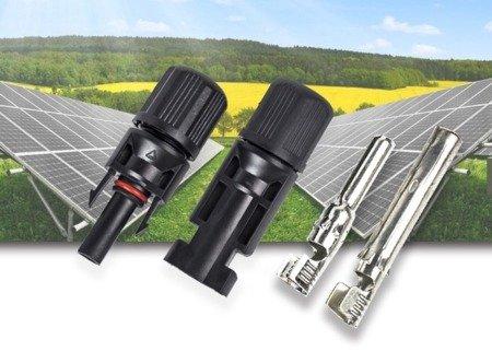 Złącze solarne MC4 do paneli fotowoltaicznych - para wtyk i gniazdo